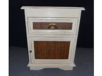 Shabby Chic Painted Wooden Bedside Cabinet with Drawer