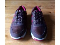 Men's brown/red leather Footjoy golf shoes SIZE 8