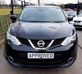 NISSAN QASHQAI 1.5 DCI ACENTA PREMIUM 5d 108 BHP Apply for finance Online today! (black) 2015