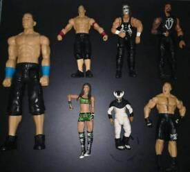 Bundle of various wwe figures