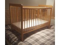 Cot and Mattress (from John Lewis) *** FREE TO ANYONE WHO WANTS *** please see details