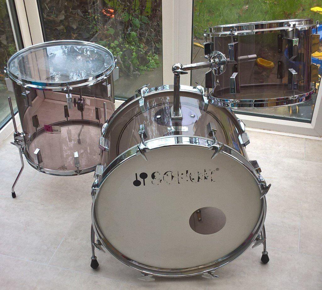 Sonor Champion Drum Shell Pack Kit Acryl Smoky Acrylic