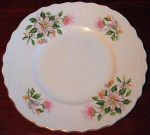 VINTAGE BONE CHINA RIDGWAY POTTERIES ROYAL VALE CAKE PLATE 1950s