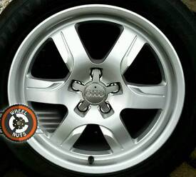 """17"""" Genuine Audi deep dish alloys, perfect condition with matching premium tyres."""
