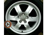 "17"" Genuine Audi deep dish alloys, perfect condition with matching premium tyres."
