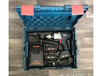 Bosch Professional GSB 18 VE-2-LI Robust Combi Drill with 3 x 1.3Ah Batteries Charger Handle L-BOXX