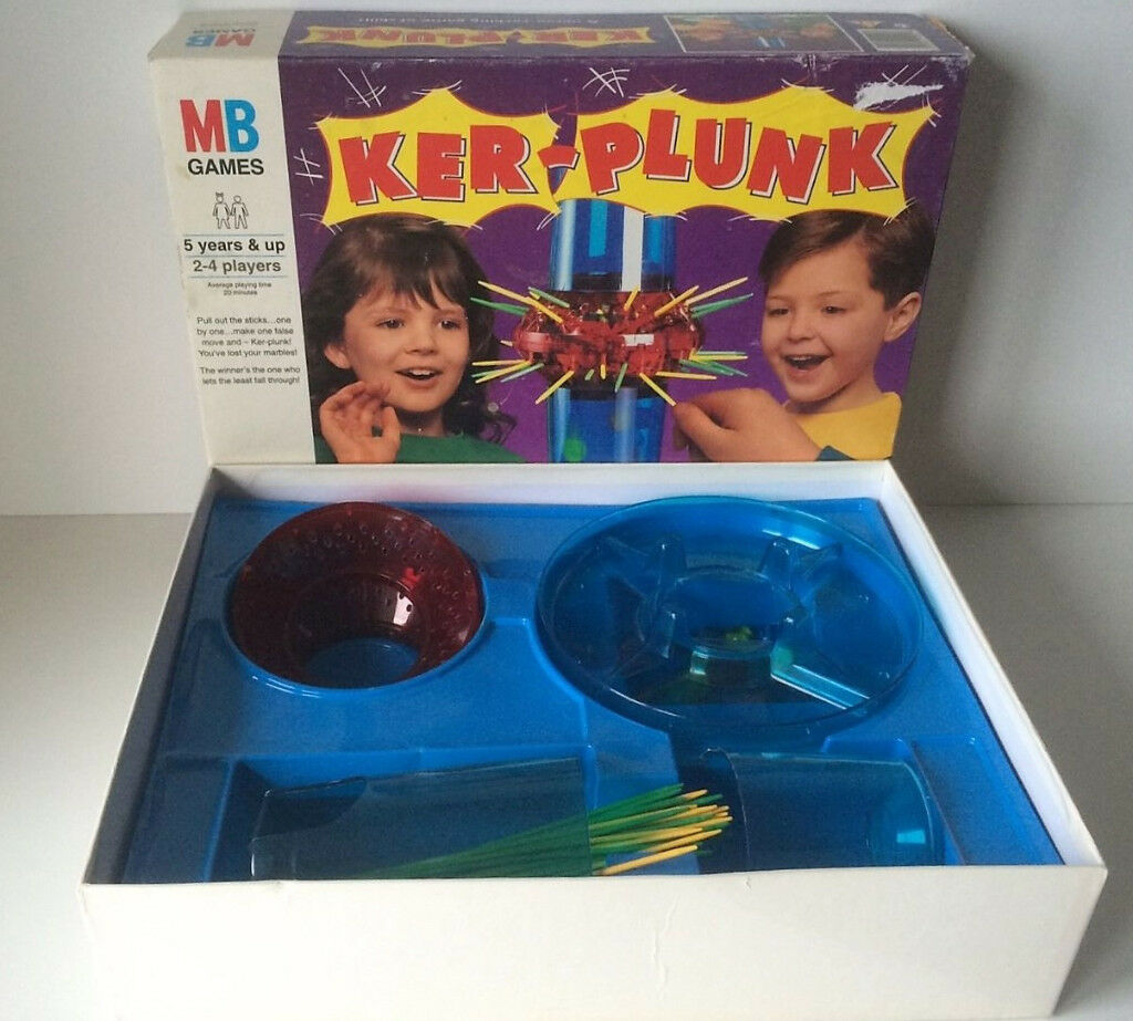 Vintage Milton Bradley MB Board Game Kerplunk
