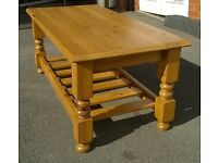 Pine coffee table fully restored