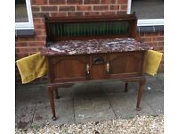 Marble Top Washstand, Dresser, Sideboard or Hall table. Lovely piece. Victorian (I think)