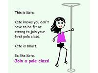 Pole dancing, pole fitness class