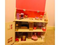 Dolls house furniture and people with free dolls house!