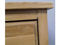 Solid Oak Wooden Wine Rack With Drawer 86x59x40cm (DAMAGED)