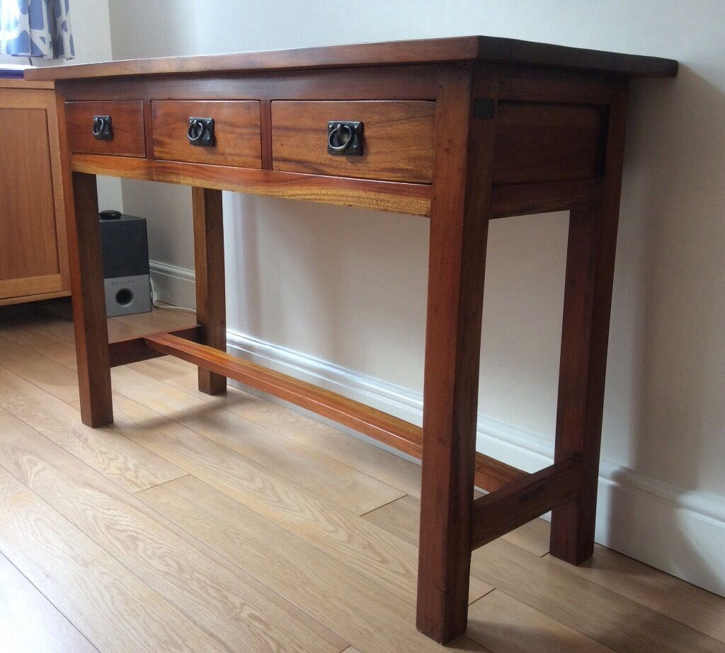 Mahogany Console Table By Ancient Mariner Furniture Co.