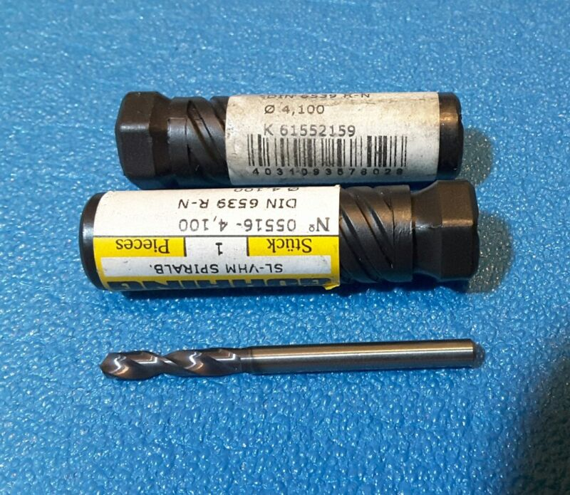4.100 mm  CARBIDE DRLLL, 2 pcs
