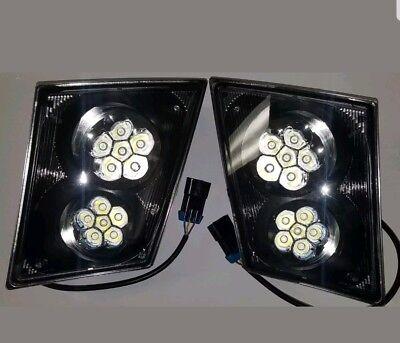 Volvo Headlight - Volvo Vnl 2003+ 12 Led Fog Light Lamp Bumper Passenger & Driver Pair Set