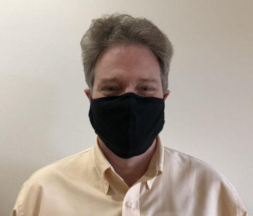 10-pack - White Black Navy Blue Olive Drab Large Adult Face Mask Cotton Washable