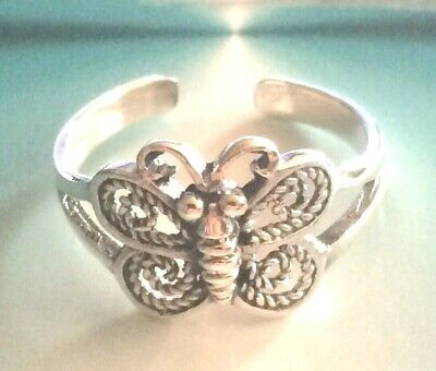 Sterling Silver .925  Toe Ring ~ Large Butterfly ~ Very Detailed $9.59 ea..