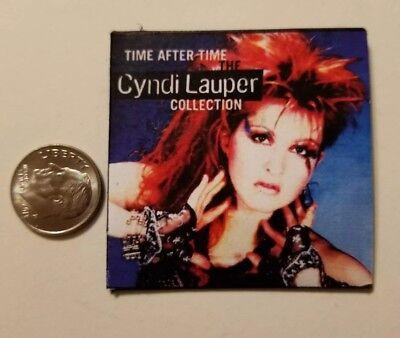Miniature record album Barbie Gi Joe 1/6    Playscale Cyndi Lauper Time after