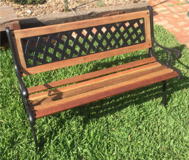 Green Cast Iron Vintage Antique Style Garden Bench Seat  Outdoor