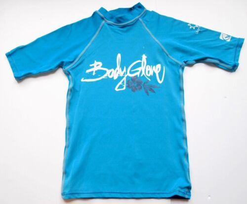 BODY GLOVE Swim Top KIDS XS Blue Shirt COVER Short Sleeve Boys Girls RASH GUARD