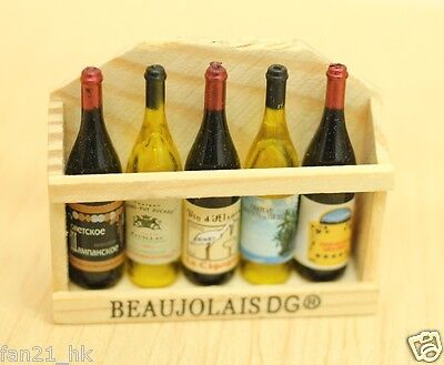 ❤ Accessories Dollhouse Miniature Vintage Wine 5 PCS set ❤ re-ment Size #575