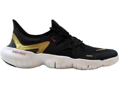 Nike Free RN 5.0 Ladies Womens Trainers Gym Running UK 7.5 Genuine Black White