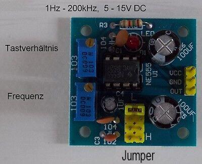 Rechteckgenerator 1Hz bis 200kHz einstellbar, 5 - 15V, Modul Frequenzgenerator