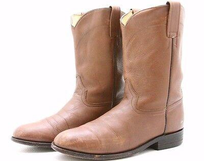 El General Mens Cowboy Boots Size 9 Brown Leather Western Roper ...