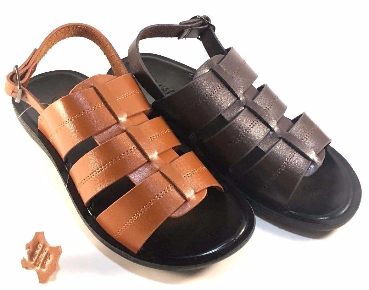 Faranzi FR81491 Leather Men's Sandals Choose Sz/Color