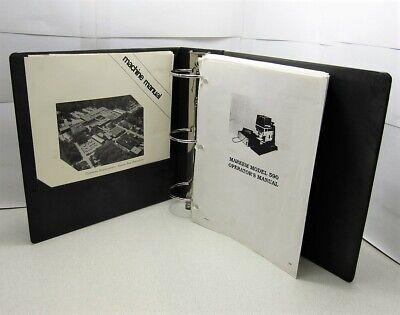 Markem Machine 590 Modular Pad Printer Manual 1994 Edition