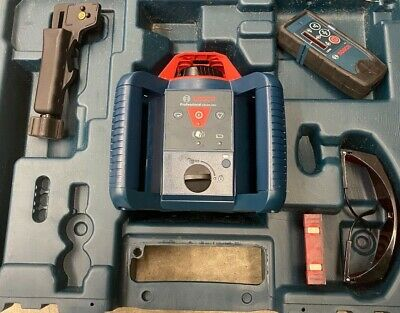Bosch 800ft Self Leveling Rotary Laser Level Kit Grl800-20 Hvk-rt Sold As Is