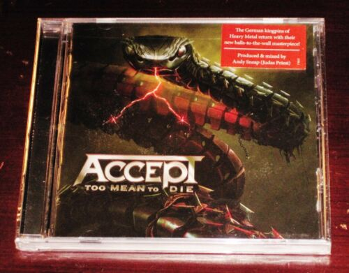 Accept: Too Mean To Die CD 2021 Nuclear Blast Records USA NB 5750-2 NEW