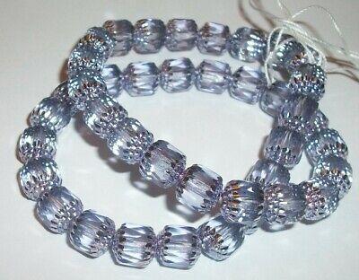 Czech Preciosa round cathedral glass beads Lilac metallic lilac 1 strand
