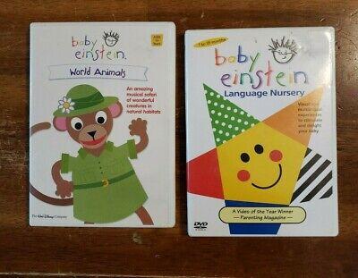 Baby Einstein Lot of 2 DVD's Language Nursery & World Animals