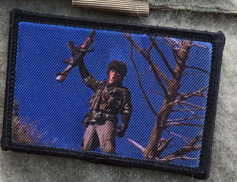 Red Dawn Wolverines Movie Morale Patch Tactical ARMY Hook Military USA Badge