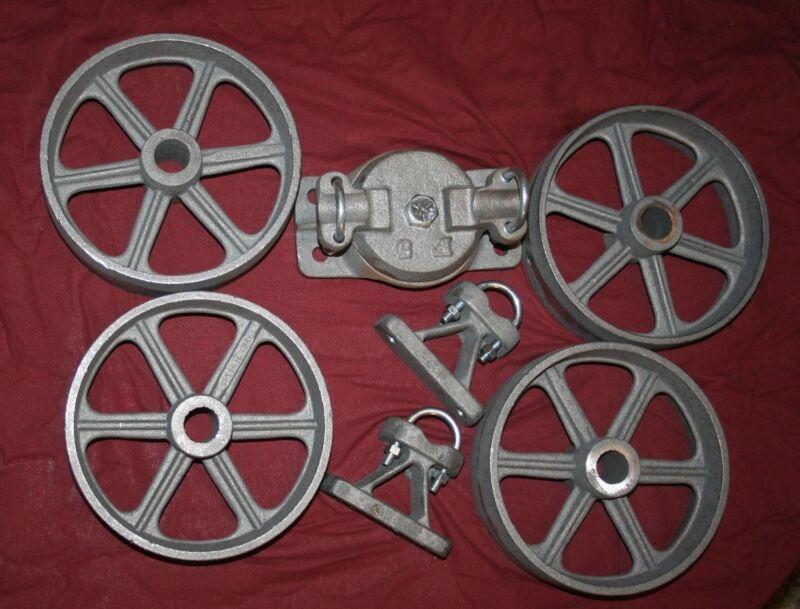 Hit & Miss Gas Flywheel Engine Cart Bolster Front Rear Wheels Truck Axle Kit