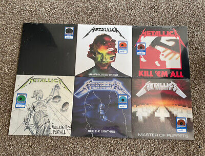 Metallica 6 Limited Colored Vinyl Record LP Set Walmart Exclusive IN HAND SEALED