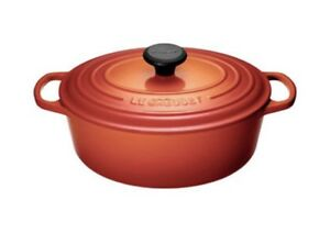 BNIB Le Crueset 4.1L oval French oven Flame colour