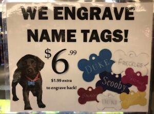 Dog Name Tag Engraving