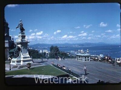 1958 Kodachrome Photo Slide  Chateau Frontenac Quebec City Canada