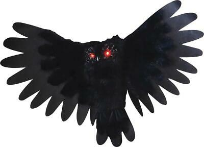 Animated Owl Halloween (Animated HALLOWEEN Owl HEAD WINGS MOVE LIGHTED EYES HAUNTED OUTDOOR DECOR)