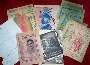 Unusual-Rare-COLLECTION-of-OLD-MUSIC-PAMPHLETS-South-America-MEXICO-Songs