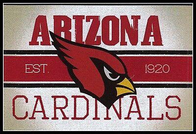 Nfl Arizona Cardinals (ARIZONA CARDINALS VINTAGE TEAM LOGO FOOTBALL NFL DECAL STICKER~BOGO 25%)