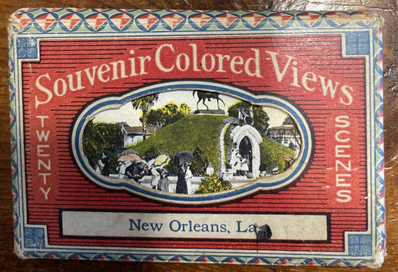 "Souvenir Colored Views Of New Orleans LA 20 3.5"" x 2.25"" Cards With Original Box"