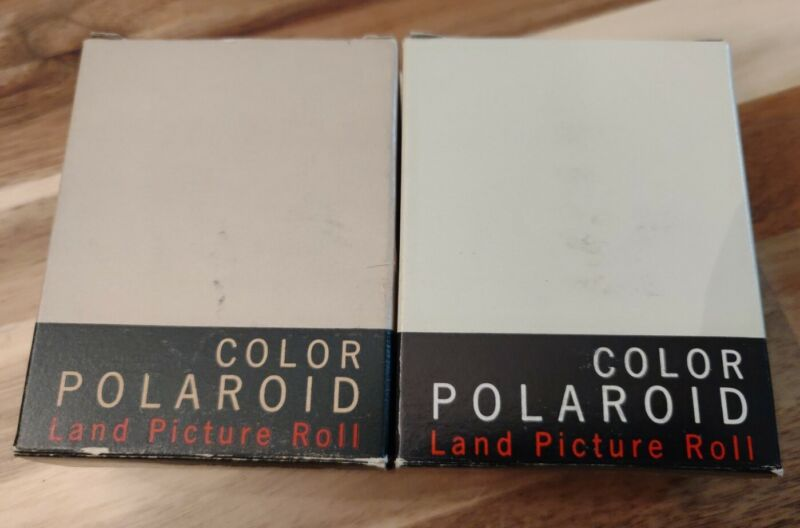 NOS POLAROID LAND PICTURE ROLL COLOR Type 48 Lot Of 2