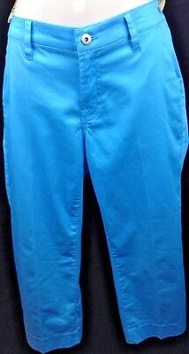 WOMENS LOUDMOUTH GOLF CAPRI PANTS SOLID COLOR POWDER BLUE SIZE 12 - Loudmouth Solid Pants