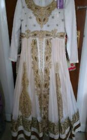 Gold and white Asian wedding/prom dress