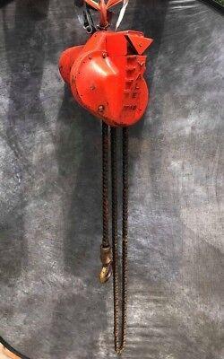 Yale Chain Hoist 1 Ton 2000 Lb 10 Chain Drop 5k48dc1a 34hp 3ph 208-220v