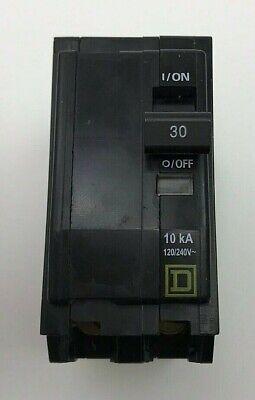 Square D 30 Amp 120240 Volt Circuit Breaker 2 Pole Cat Qo230