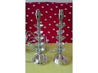 Brand New Pair of Laura Ashley Crystal Lamps